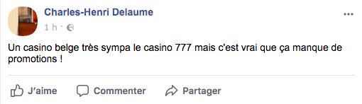 avis facebook casino 777